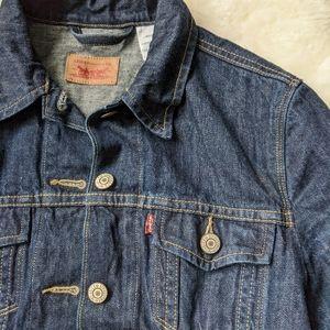 Levi's dark denim jean jacket